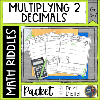 Multiplying Decimals 2 Math with Riddles