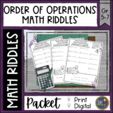 Order of Operations Math with Riddles Bundle Distance Lear