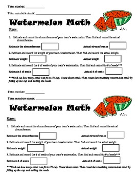 Math with Watermelons