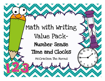 Math with Writing Daily 3 Value Pack- Time and Clocks, Num