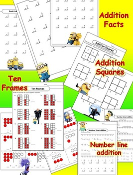 Math with the Minions - Addition Practice - CCSS Aligned