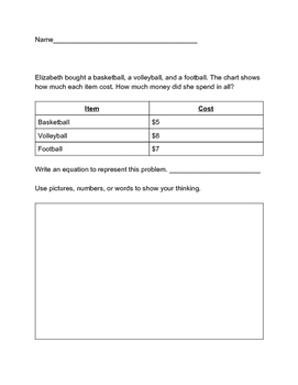 Math word addition word problems-Common Core Aligned