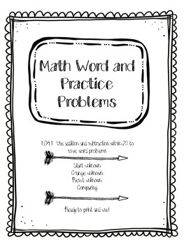 Math word and practice problems 1.0A.1