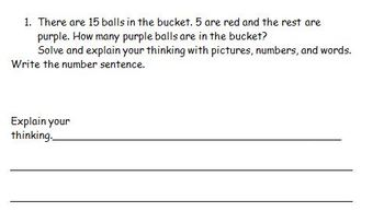 Math word problems-common core aligned