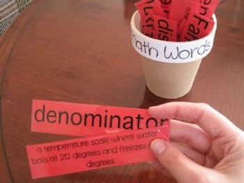 Math words with definitions