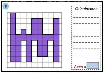 Math worksheet 002 - Area of irregular shapes