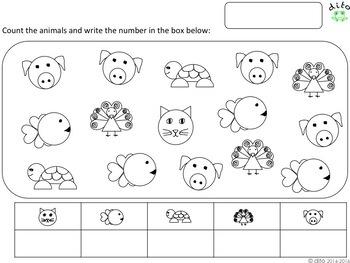 Math worksheets 1-10