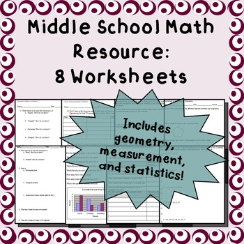 Worksheets With Geometry Teaching Resources | Teachers Pay Teachers