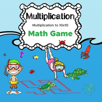 Multiplication to 10x10 Math game