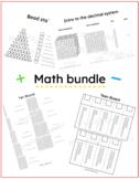 Math worksheet bundle! - Decimal system