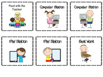 Math workstation cards for management board