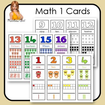 Math1 Cards - Numbers, 2D Shapes & Colors