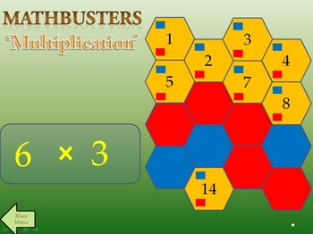MathBusters - Math Multiplication Tables Team Game (All tables)