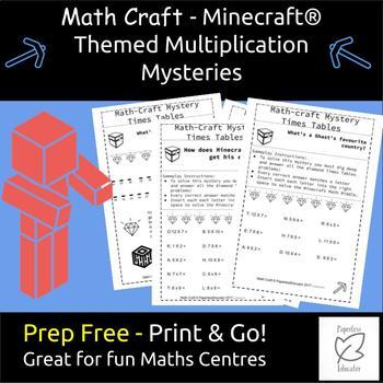 Math Multiplication Mystery Minecraft ® Riddles