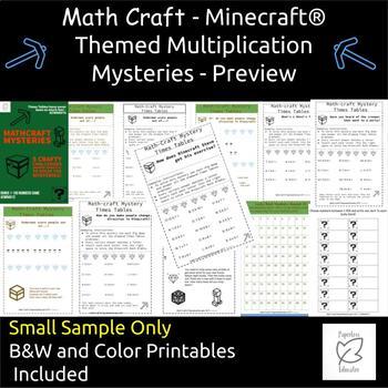 Maths FUN! Math Multiplication Mystery, Minecraft ® Riddles