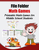 42 Printable Math Games for Middle School & Upper Elementary Students