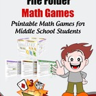 42 Printable Math Games for Middle School & Upper Elementa