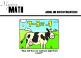 MathMystery Adding and Subtracting Integers Scavenger Hunt