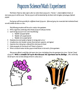Best Popping Popcorn Experiment Scientific Method