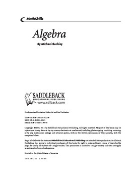 MathSkills Algebra