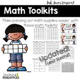 Math Toolkit: A Tool Kit for Organizing Math Materials... Ink Saver Version!