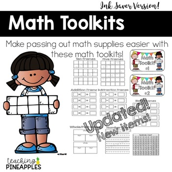 Math Toolkit: A Tool Kit for Organizing Math Materials... Ink Saver Version!