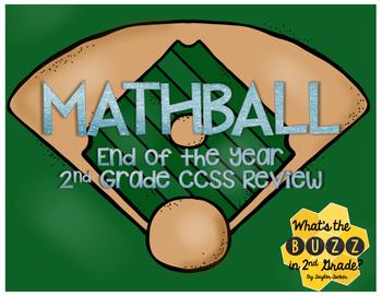 Mathball: EOY 2nd Grade CCSS Task Card Review