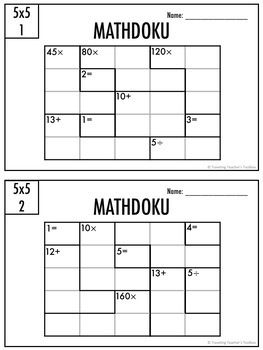 Mathdoku Math Puzzles Bundle