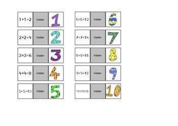 Mathe Klasse 1: Verdopplungs-Telefon