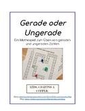 Mathe Spiel: Gerade oder ungerade - Deutsch/German