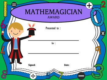 Mathemagician Awards