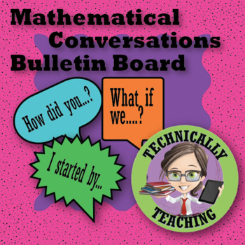 Mathematical Conversations Bulletin Board Silhouette Cameo