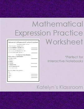 Mathematical Expression Practice Worksheet