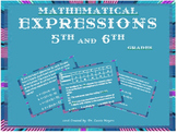 Mathematical Expressions for 5th & 6th grades