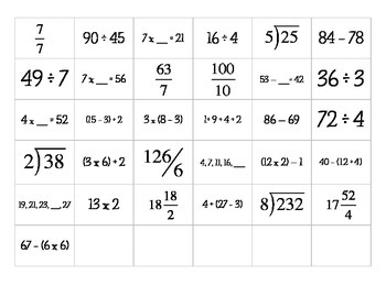 Mathematical Expressions for Backpack/Coat Hook Numbering