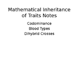 Mathematical Inheritance of Traits Presentation