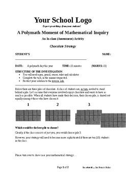 Mathematical Inquiry (Chocolate Strategy)