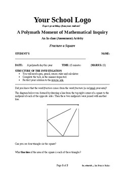 Mathematical Inquiry (Fracture a Square)