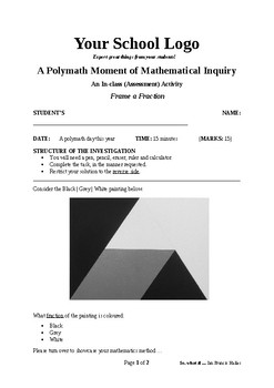 Mathematical Inquiry (Frame a Fraction)