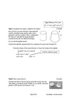 Mathematical Investigation (Don't Rubbish the Bin)