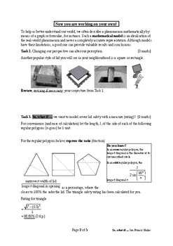 Mathematical Investigation (Modelling for Sewer Lid (Cover) Safety)