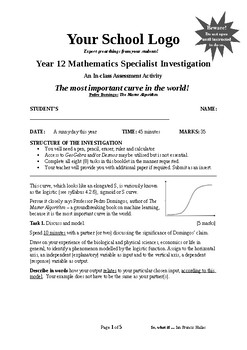 Mathematical Investigation (The most important curve in the world)