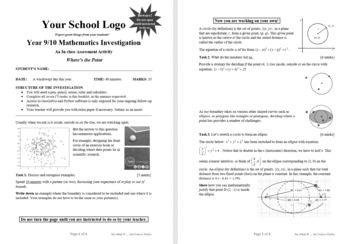 Mathematical Investigation (Where's the Point)