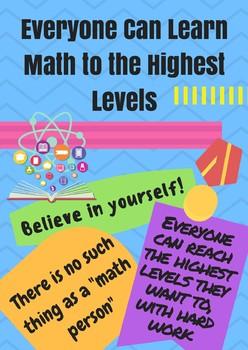 Mathematical Mindset Posters