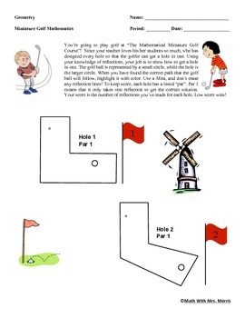 Mathematical Miniature Golf: Reflecting Your Way Through A 9-Hole Golf Course