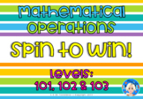 Mathematical Operations Spinner Games