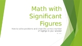 Mathematical Operations with Correct Significant Figures P