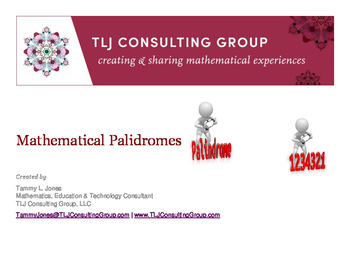 Mathematical Palindromes By Tlj Consulting Group Tpt