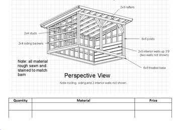Mathematical Planning:  Build a Pole Barn