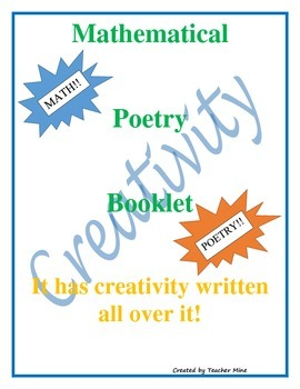 Mathematical Poetry Booklet for Middle/High School